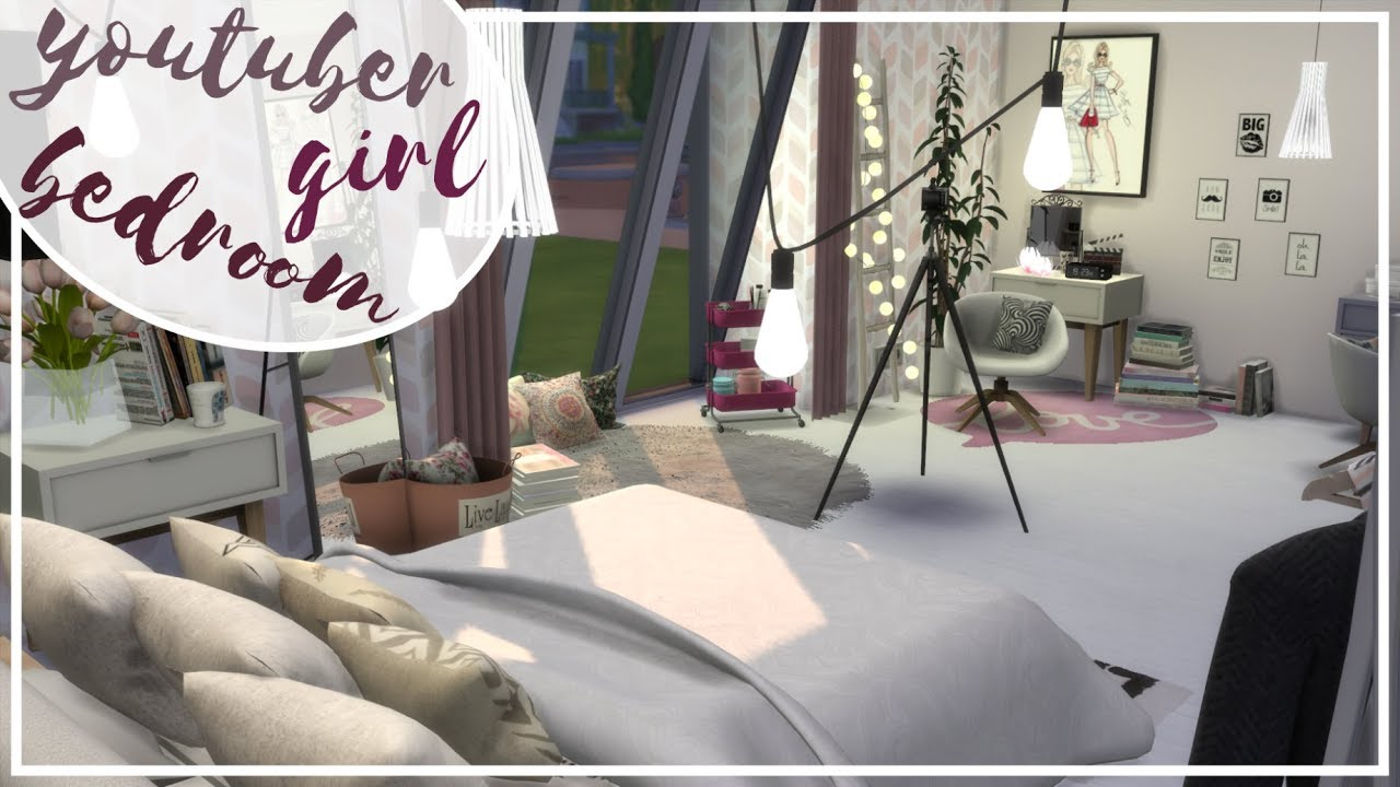 Sypialnia Youtuberki The Sims 4 Speed Build Pomieszczenia