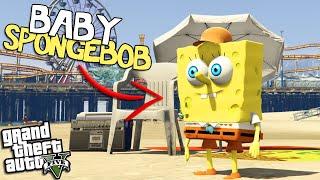 BABY SPONGEBOB goes to LOS SANTOS (GTA 5 Mods)