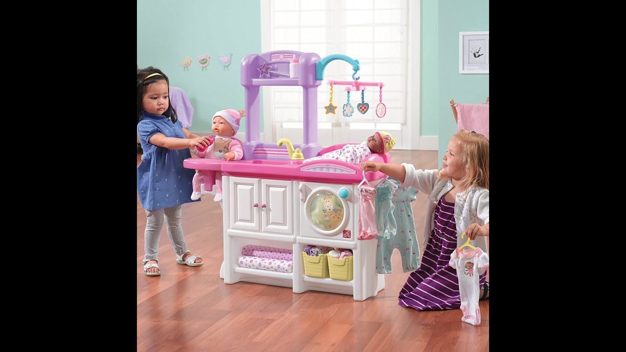 Baby Doll Nursery Care Toy Set Playing Kids Fun Change