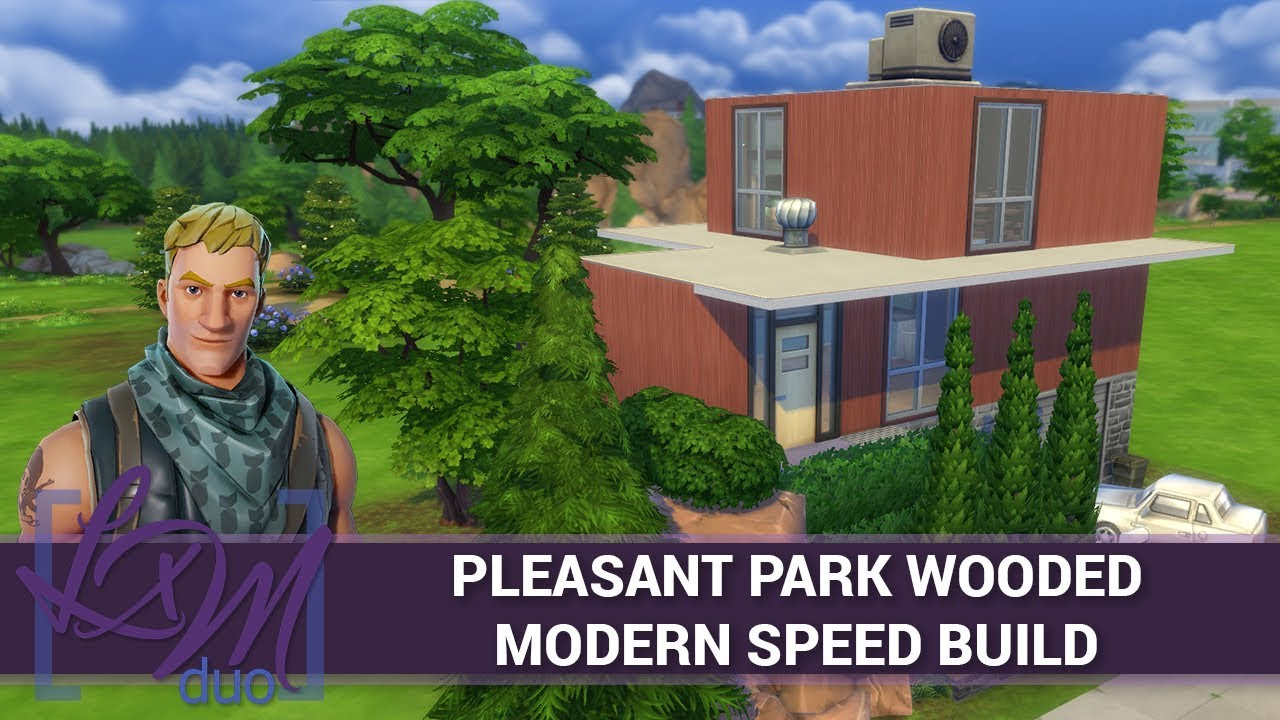 fortnite sims 4 speed build pleasant park wooded modern