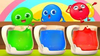 彩虹糖去游泳 | 最新學習顏色兒歌童謠 | 美食兒歌 | 1-5數字歌卡通動畫 | 寶寶巴士 | 奇奇 | BabyBus