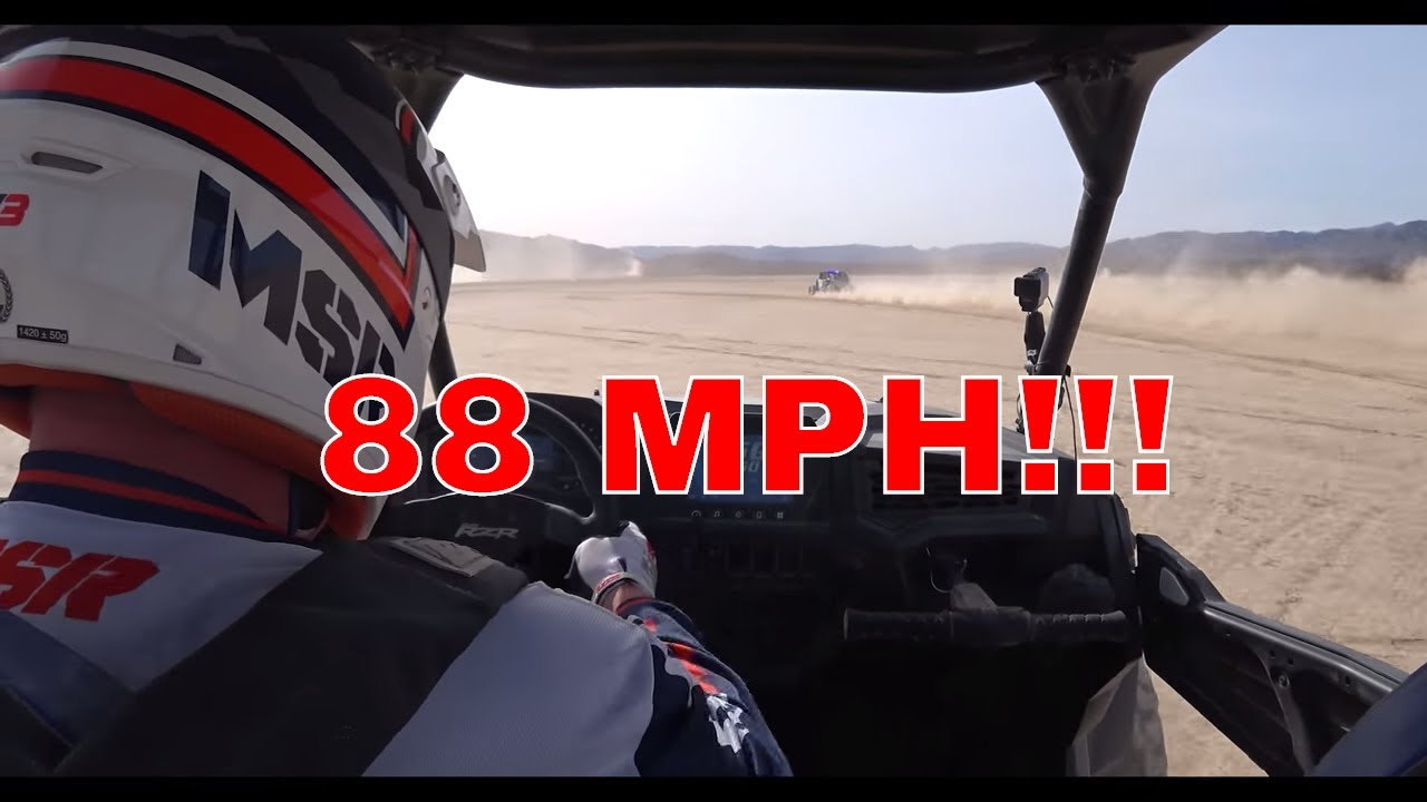 2018 POLARIS RZR XP TURBO S TOP SPEED RUN!!!!!