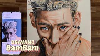 Drawing BamBam | 갓세븐 뱀뱀 색연필그림 | 색연필인물화 | Della