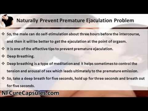 the problem of premature ejaculation Premature ejaculation (pe) is an extremely common condition until recently pe  was thought to be a psychological problem for which the best treatment was.