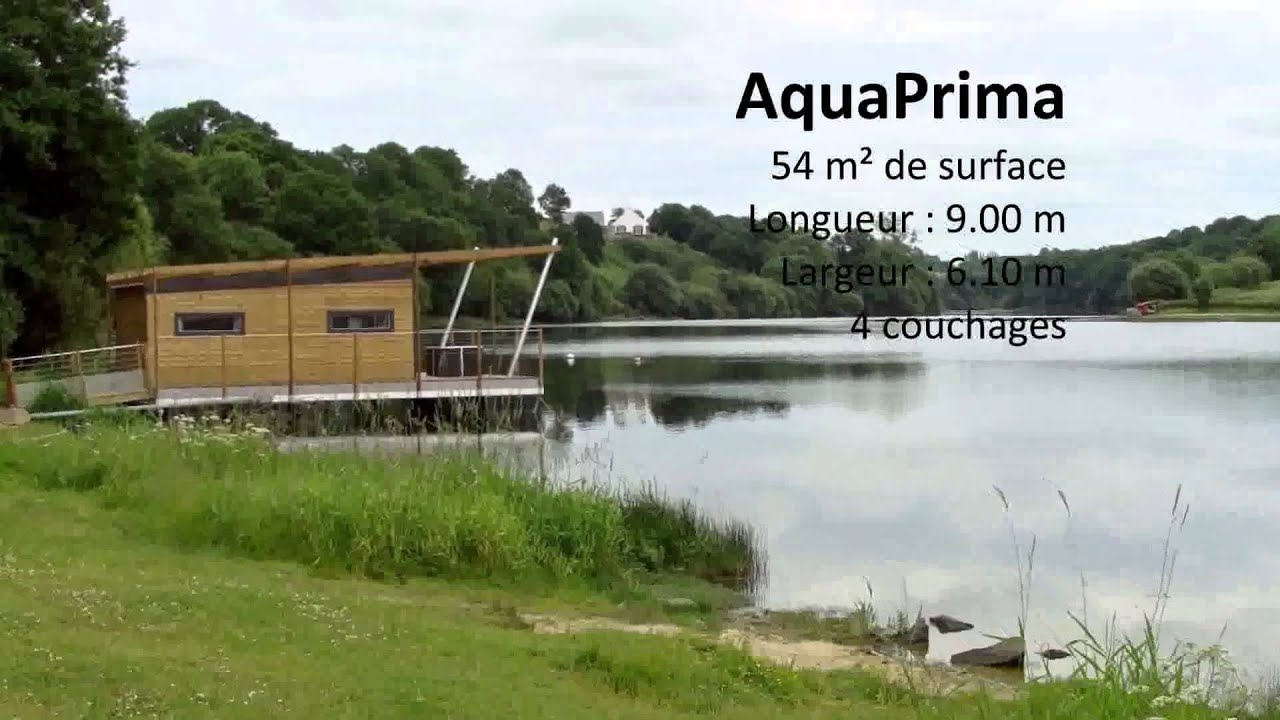 Aquashell aquaprima maison flottante youtube for Maison flottante