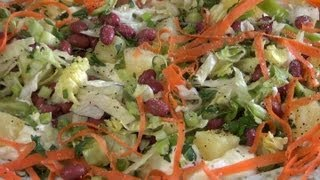 Vegetables Salad With Red Beans.
