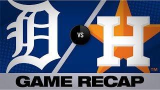 Cole, Bregman lift Astros past Tigers | Tigers-Astros Game Highlights 8/22/19