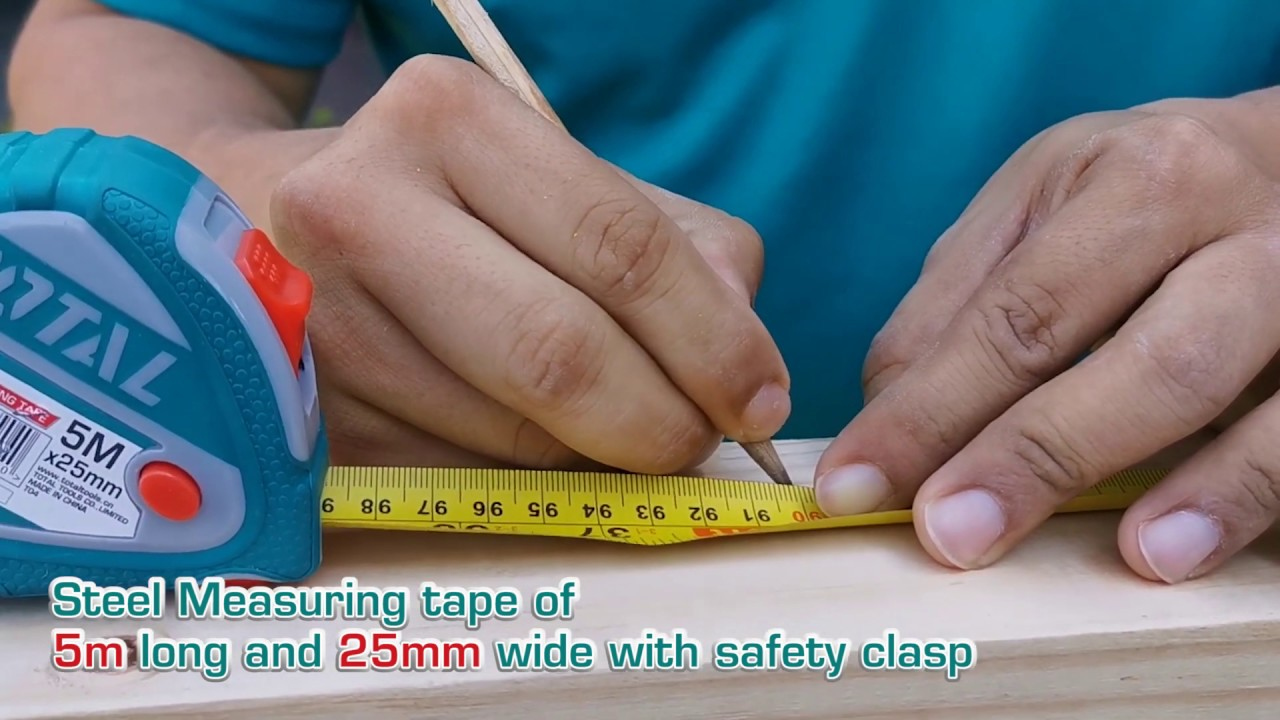 TOTAL Steel measuring tape TMT126052 - YouTube