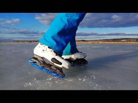 Крутая каталка на коньках!   Как не скучать зимой? Легко!