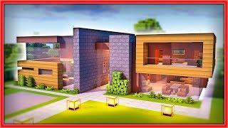 minecraft casa moderna grande