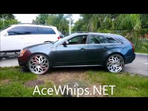 "AceWhips.NET- GL450 on 32"" And CTS Wagon on 26"" AMANI FORGED"