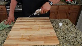How To Oil Treat Your Cutting Board & More....