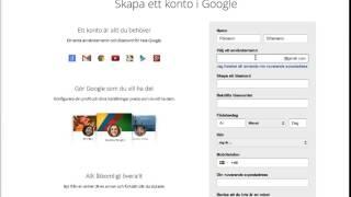 Att skapa ett googlekonto