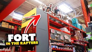 INSANE FORT IN THE RAFTERS!!