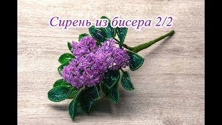 СИРЕНЬ из бисера. Часть 2. Цветы и сборка / DIY. Lilac flower from bead handmade