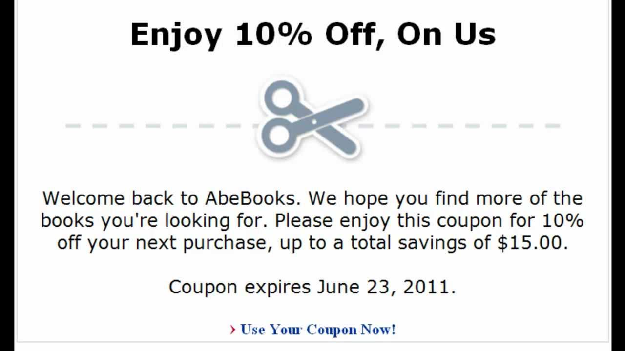 Abebooks discount coupon
