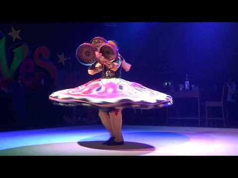 ТАНУРА - танец с юбками. Animation at Ali Baba Hotel, Hurghada, Egypt. National dance Tanura.
