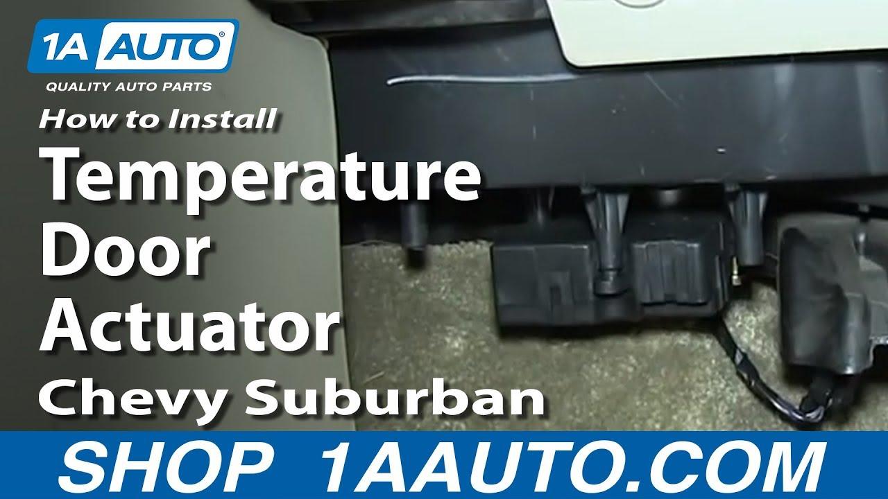 how to replace door actuator 00 06 chevy suburban [ 1280 x 720 Pixel ]