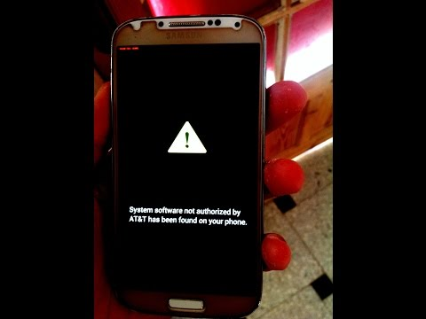 System Software Not Authorized By At&t Has Been Found On Your Phone
