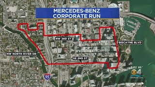 Road Closures For Mercedes Benz Corporate Run In Miami