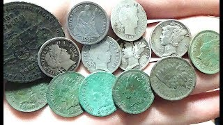 MIDWEST TREASURE! Metal Detecting Great Day of Old and Silver Coins at the Old Courthouse!