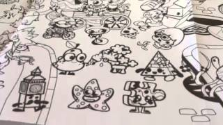 Moshi Monsters Colouring Poster Review!