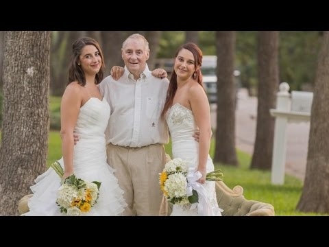 Why Single Twin Sisters Took Wedding Photos For Father with Alzheimer's