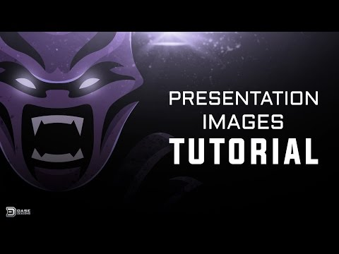 Photoshop Tutorial Presentation Images for eSports Logos