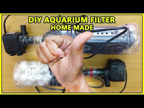 DIY Aquarium Filter | Using Internal Power Head And External Filter Media