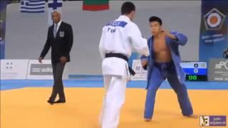 Judo 2014 European Championships Cadets: Celik (TUR) - van Damme (BEL) [-55kg]