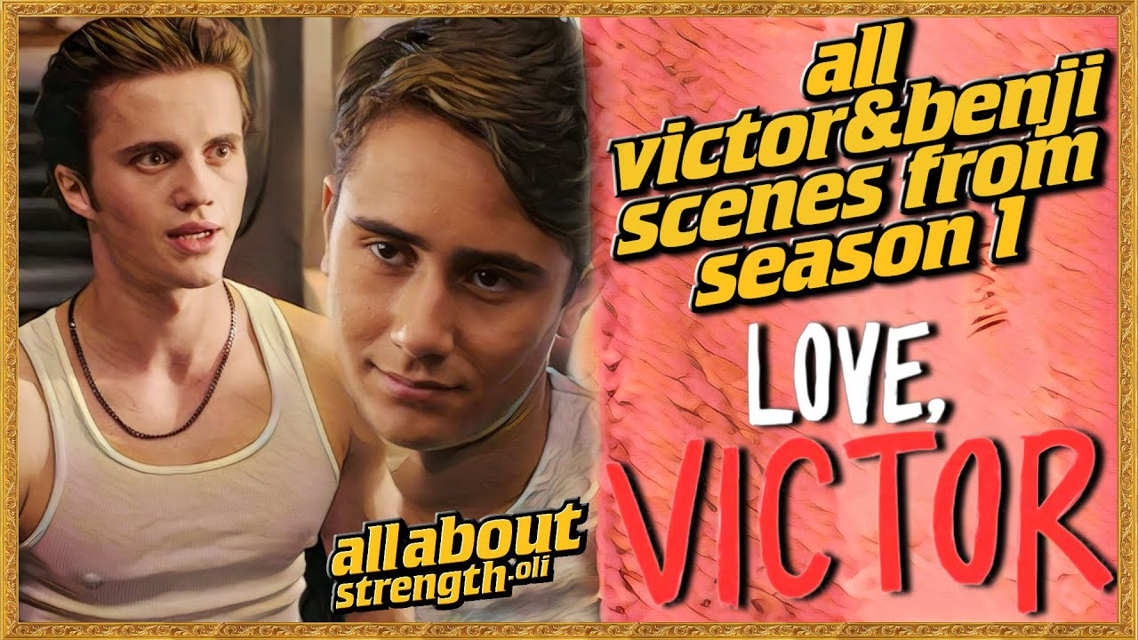 🏳️‍🌈 All Victor and Benji Scenes from Love, Victor Season 1| Part 2 ( Gay | Kiss | Scenes  | 4k)