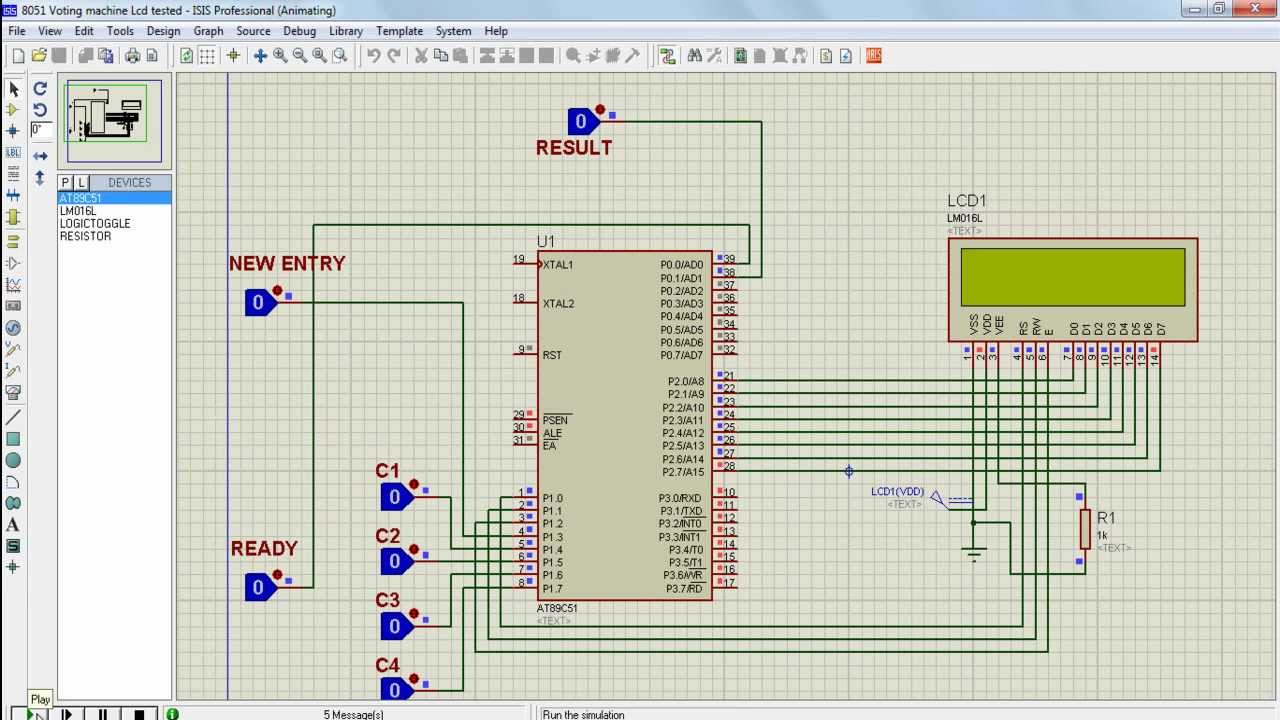 Lcd Based Electronic Voting Machine Using 8051 Microprocessor To Electronics Mini Projects Circuits Integrated Circuit
