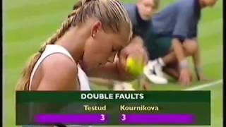 Anna Kournikova vs Sandrine Testud 2000 Wimbledon R1