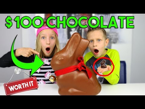 $100 Chocolate Vs. $1 Chocolate !!!