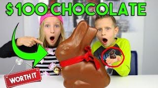 $100 Chocolate Vs. $1 Chocolate !!!