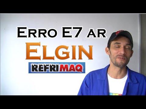Código de erro (E7) ar split Elgin