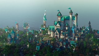 minecraft kingdom medieval build collab 50k epic
