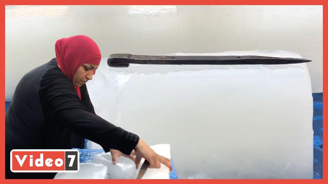 سيدة الثلج ضهر أبوها.. رشا بتشتغل 19 ساعة وبيعاملوها كراجل  - 14:54-2021 / 5 / 15