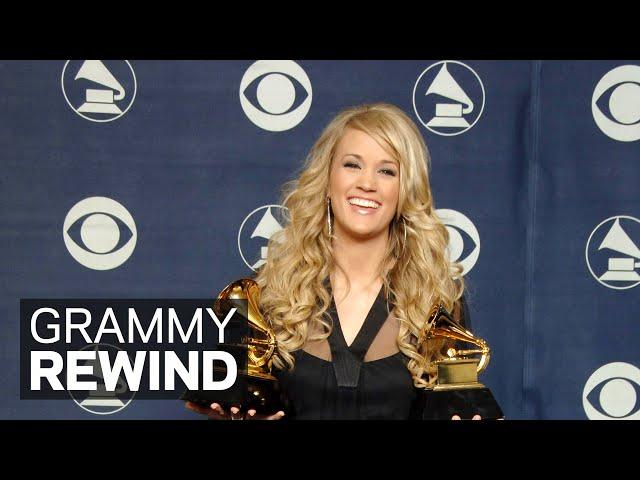 Carrie Underwood Wins Best New Artist At The 2007 GRAMMYs | GRAMMY Rewind