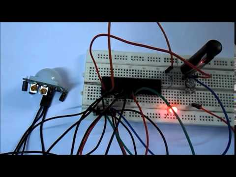 Automatic Staircase Light using PIR Sensor and AVR Microcontroller