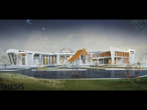 thesis architecture: project Ethnic Culture Exhibition Hall animation in Cambodia