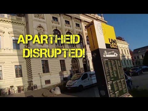 Apartheid Ambassador disrupted at University of Graz! Stop Apartheid!