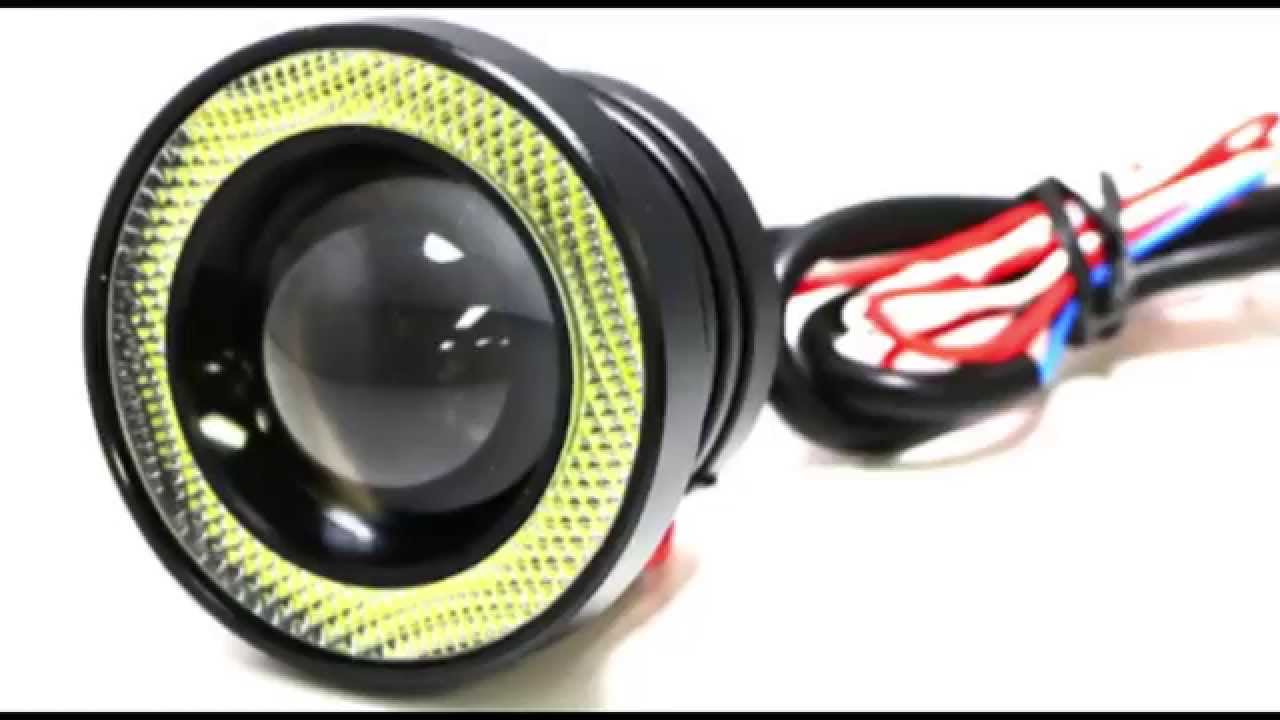 Captivating IJDMTOY High Power LED Fog Lights With LED Halo Rings   YouTube