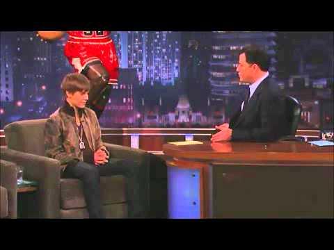 Justin Bieber - Jimmey Kimmel 2011. Girlfriend death threats.