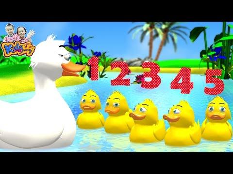 เพลงลูกเป็ด 5 ตัว | เป็ดน้อย 5 ตัว | five little duck  By KidsMeSong