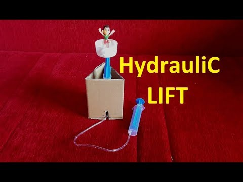 How to make a Hydraulic Lift - SCIENCE PROJECT