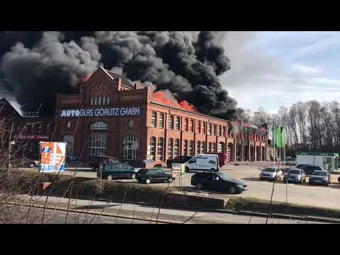 Brand Bei Der Autoglas Gorlitz Gmbh Am 25 02 2019 Grossband Feuerwehreinsatz