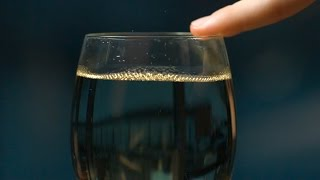 Why does the wine glass make sound?