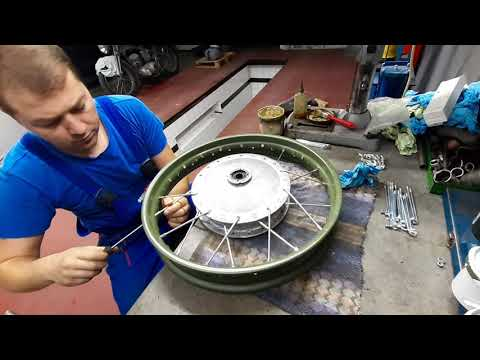 How To Lace And True A Dnepr 650 Motorcycle Wheel - Part 1