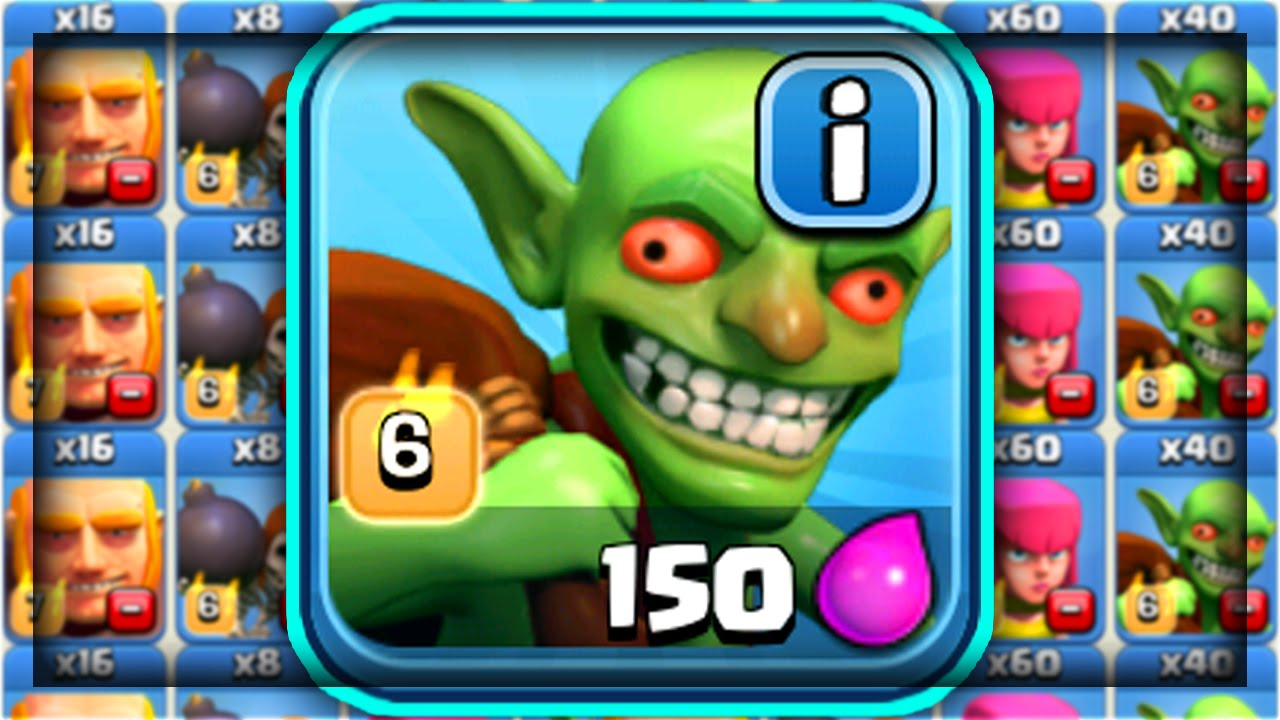 Clash of Clans - MAKE 'OVERPOWERED GOBLIN'! BEST Goblin Army Strategy! (CoC  EPIC Goblin Strategy)